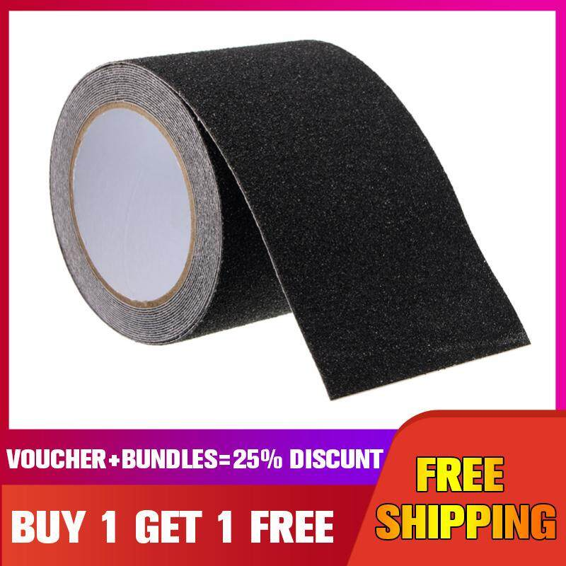 【Buy one get one free】5m*10cm Floor Stair Step Anti Slip Tape High Grip Adhesive Sticky Non Slip Safe -- Black