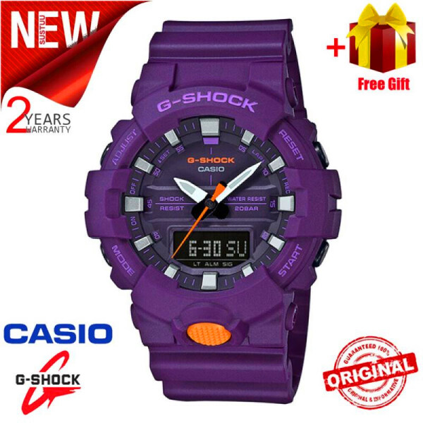 (Ready stock) New Arrival Original G Shock GA-800SC-6A Men Sport Watch Duo W/Time 200M Water Resistant Shockproof and Waterproof World Time LED Auto Light Malaysia