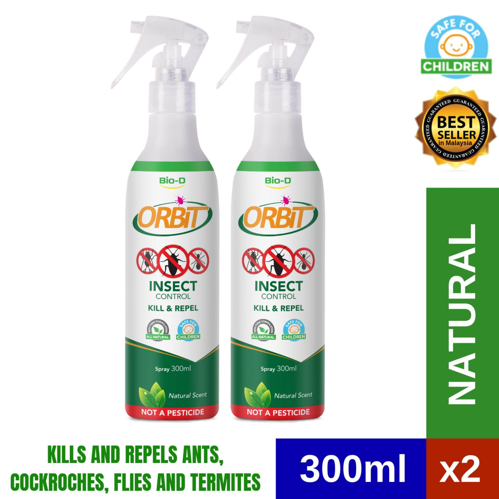 Bio-D Orbit Insect Control (Cockroaches, Termites, Ants) Spray 300ml (Natural) x 2