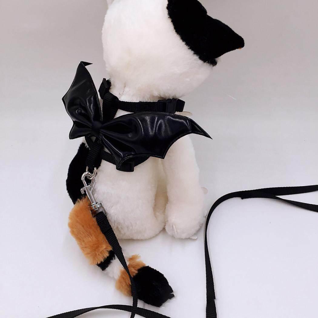 Thú Cưng Dây Xích Dây Bộ Bát Thiết Kế Hình Thú Đáng Yêu Cánh Mèo Dây Bộ cho Halloween, Loại 45 Cánh Lớn - 2