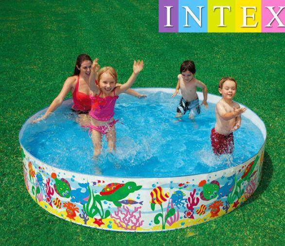 Intex Plastic Swimming Pool For Kids (5 Ft) By Cyberian Store.