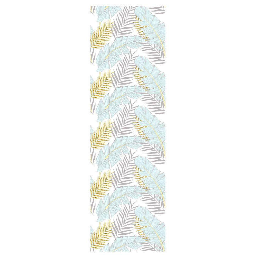[05]Watercolor Golden Palm Leaves Background Wallpaper PVC Removable Self-Adhesive Sticker Modern Home Waterproof Wall Mural