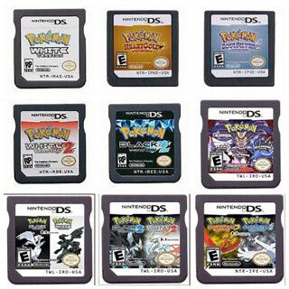 Thẻ Và Thẻ Trò Chơi POKEMON Heart Gintama Vàng, Thẻ Trò Chơi Pokemon Cho Nintendo Switch 3DS NDS Lite DS thumbnail