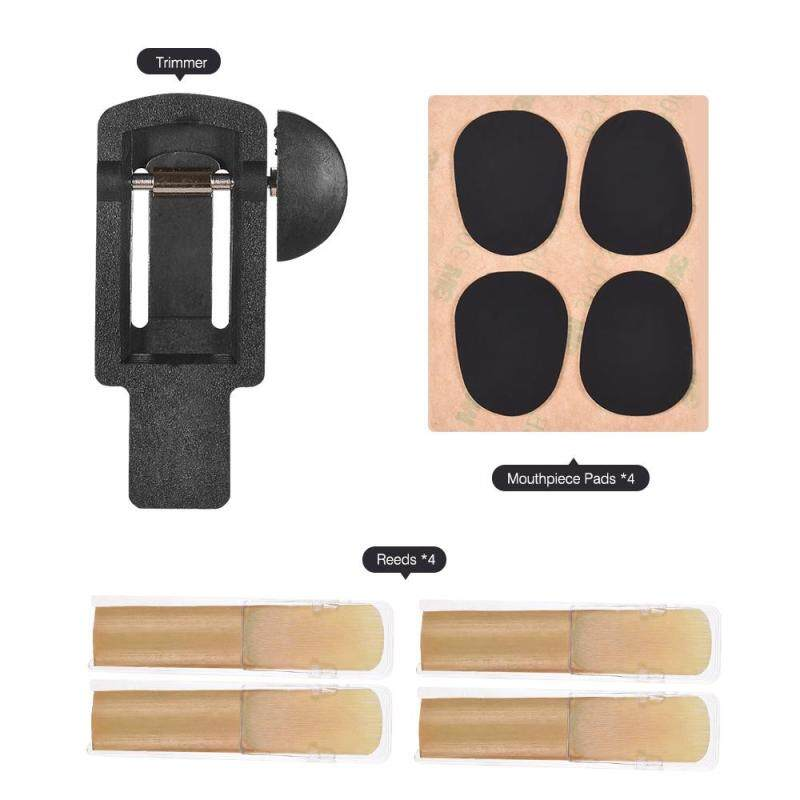 Saxophone Reeds Trimmer Set with Reeds 2.5 Strength and Mouthpiece Cushion Pads Musical Woodwind Instrument Accessories Repair Tool for Clarinet Saxophone Malaysia