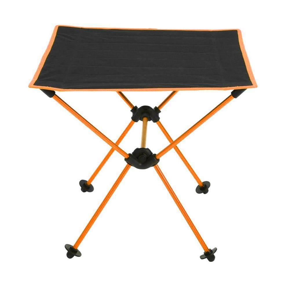 แบบพกพากันน้ำ 600d Oxford อลูมิเนียมอัลลอยด์โต๊ะพับเก็บได้โต๊ะสำหรับบาร์บีคิวกลางแจ้ง By Hosport Official Store.