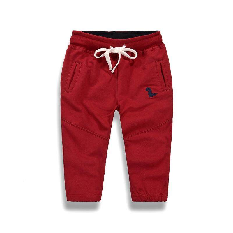Autumn Baby Boy Solid Print Cotton Long Pants Trousers Toddler Casual Bottoms Clothing image on snachetto.com
