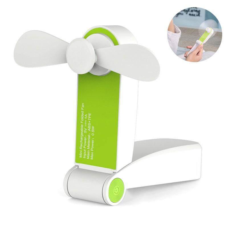 leegoal Mini Handheld Fan Foldable Hand Pocket USB Fans Rechargeable Electric Personal Hand Bar Desktop Fan