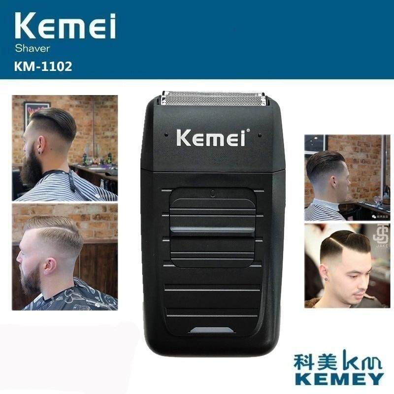 Kemei Rechargeable Cordless Shaver for Men Twin Blade Reciprocating Beard Razor Face Care Multifunction Strong Trimmer Free shipping