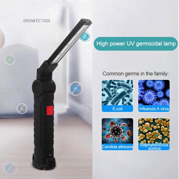 【Lndam】 Đèn LED Khử Trùng UV UV Đèn Khử Trùng Trong Nhà Đèn Khử Trùng Với 5 Mẫu Sạc USB