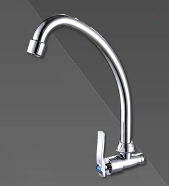 Swan Neck Wall Tap Kepala Sink 15mm (Steel Tube)