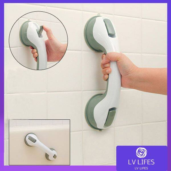 Anti-Skid Handrails In The Bathroom With Strong Suction Cups Bathroom Shower Support Grab Bar Grip Suction Cup Tub Bath Safety Handle