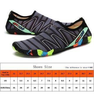 Giày Thượng Nguồn Giày Bơi Lặn Dưới Nước Chân Trần Cho Nam, Giày Lội Nước Đi Biển Thoáng Khí Thể Thao Ngoài Trời, Nam Aqua Bên Bờ Biển Sneakers thumbnail