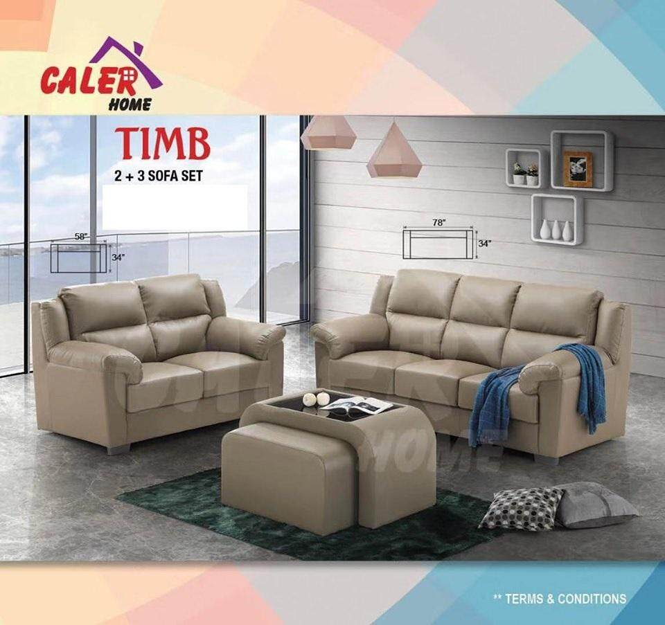 Timb 3 2 Pu Sofa Set High Quality