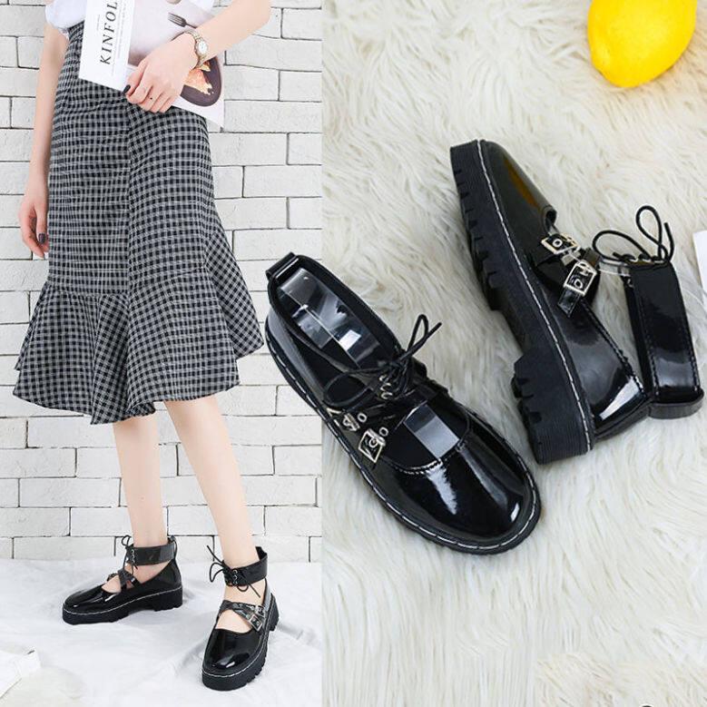 Vintage Mary Janes Giày Nữ Giày Nữ Giày Đi Học Giày Búp Bê Cho Nữ Giày Đế Bằng Ba Lê Cho Nữ Giảm Giá 122110 giá rẻ