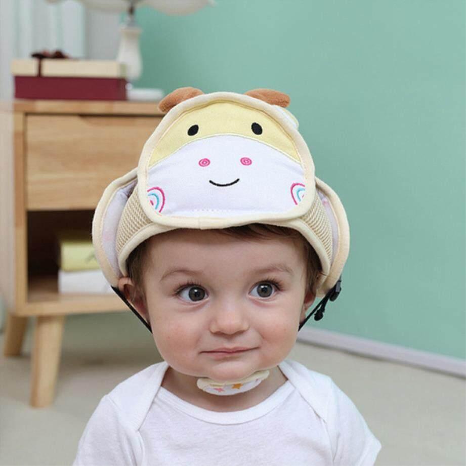 Bayi Helm Pelindung Anak Gadis Anti-Tabrakan Helm Keselamatan Bayi Balita Keamanan & Perlindungan Topi Lembut. Berjalan Anak-Anak Topi By Yimin Store.