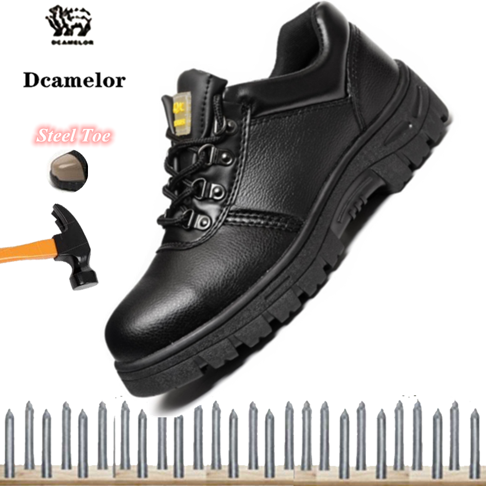 Brand DCAMELOR 2020 Fashion Unisex Steel Work Safety Shoes Toes Safety Shoes for Men and Women Safety Shoes, Anti-smashing Anti-slip Work Shoes