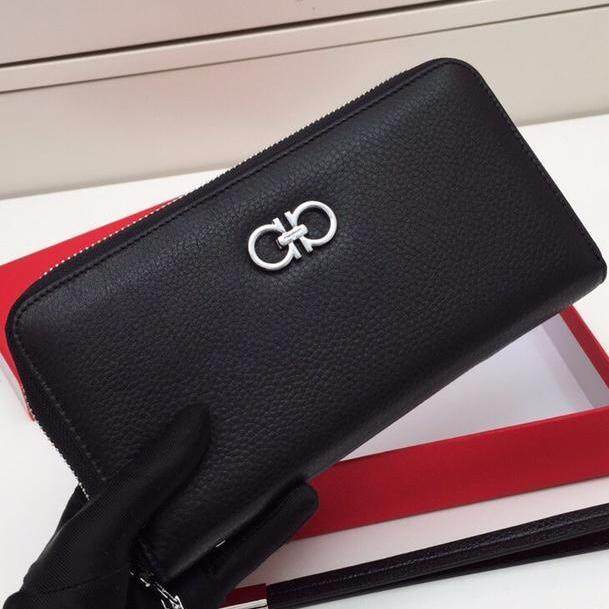 Ferragamo_2019 new simple and stylish mens wallet  retro classic luxury clutch