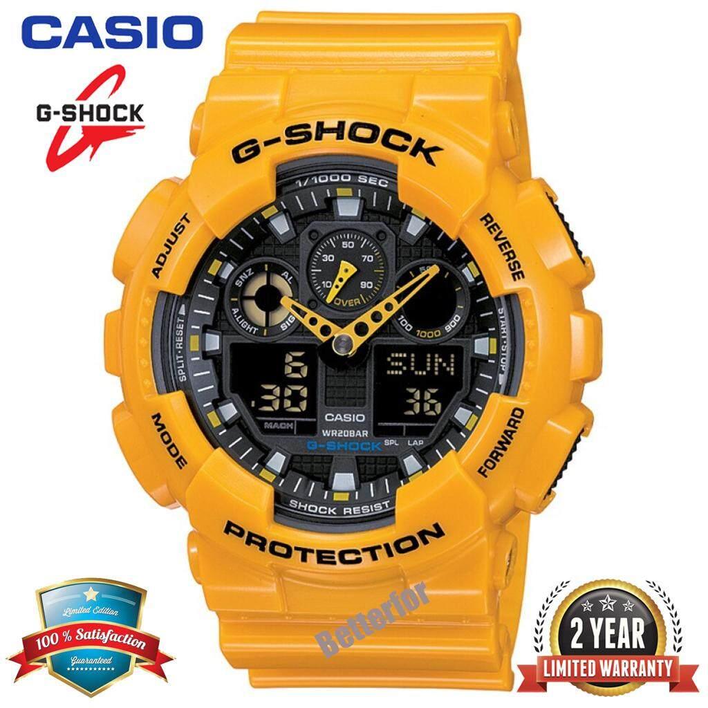 G Shock Waterproof >> Ready Stock G Shock Ga100 Men Sport Watch Duo W Time 200m Water