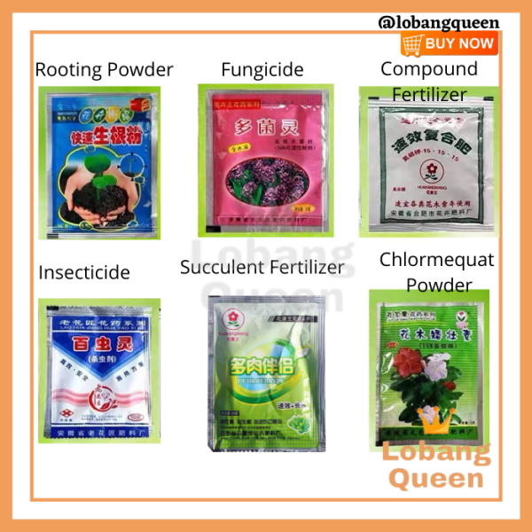 1 PACK FERTILIZER FUNGICIDE PESTICIDE INSECTICIDE ROOTING POWDER