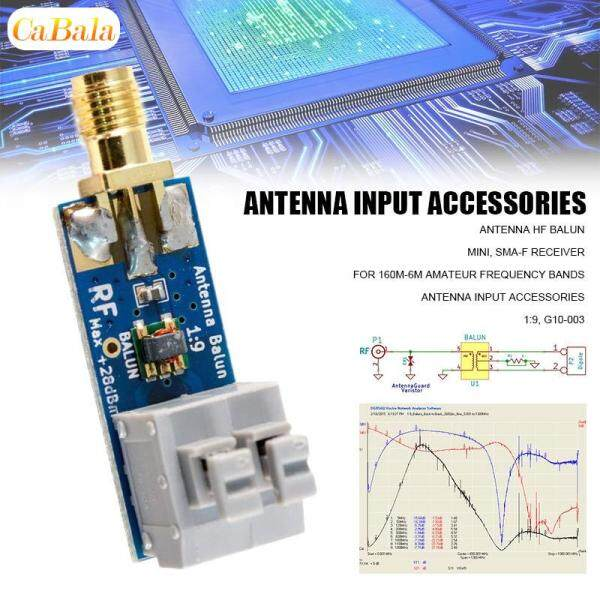 CaBala Mini 1:9 Antenna HF Balun G10-003 SMA-F Receiver for 160m-6m Amateur Frequency Bands