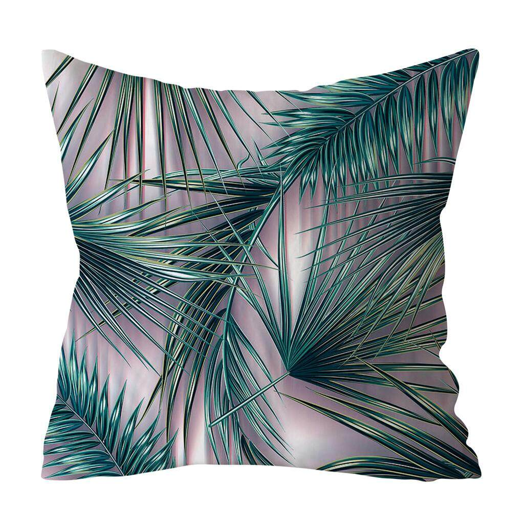 Tandyshop Green Leaf Printed Pillow Case Polyester Sofa Car Cushion Cover  Home Decor No Brand