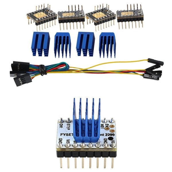 4Pcs Tmc2130 V3.0 Stepper Motor Stepstick Mute Silent Driver & 2Pcs Tmc2209 Stepping Motor Driver 3D Printer Parts