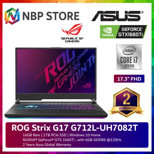 Asus ROG Strix G17 G712L-UH7082T 17.3 FHD 120Hz Gaming Laptop ( i7-10750H, 16GB, 1TB SSD, GTX1660Ti 6GB, W10 ) Malaysia
