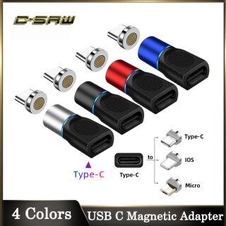 C-SAW Bộ Chuyển Đổi Từ Tính USB Type C 3A Cho IPhone Android, Đầu Nối Micro USB Cho Samsung S20 S10 S9 Plus Huawei Xiaomi Redmi Vivo OPPO-Intl thumbnail