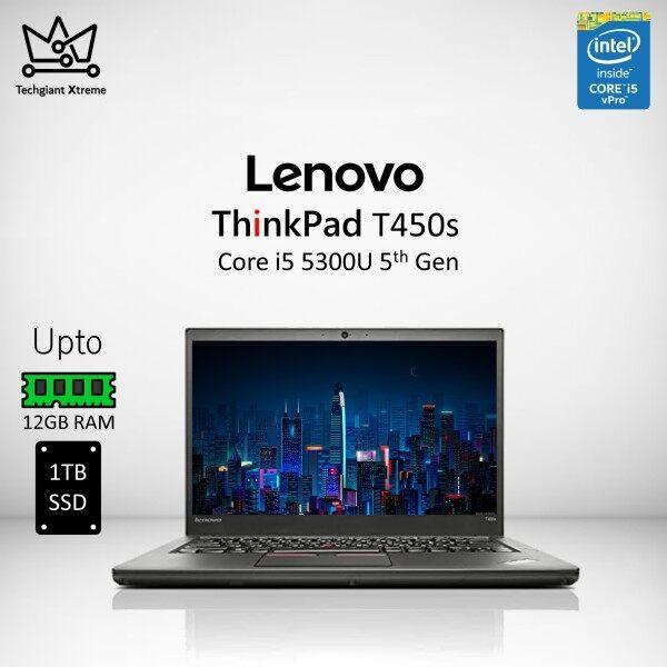 Lenovo ThinkPad T450s Core i5 (5th Gen) 14 HD / Upto 12GB RAM / 1TB SSD / 14 HD Screen / Refurbished Laptop/Komputer Malaysia