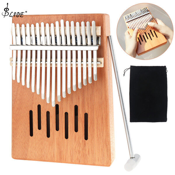 SLADE 17 Key Kalimba Thumb Piano Acoustic Finger Piano Mahogany Keyboard Instrument Malaysia