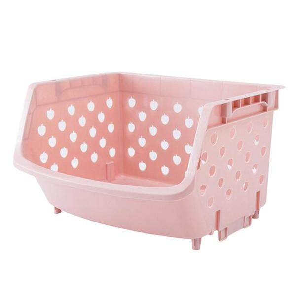 Kitchen Organizer Basket Shelf Stackable Single-Deck Fruit Vegetable Storage Box