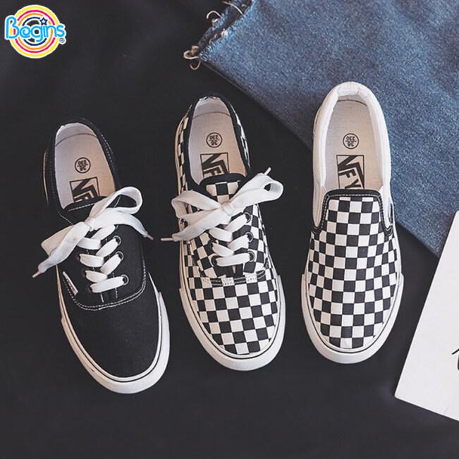 Mr. Begins Giày lười làm bằng vải màu trắng đen theo phong cách Hồng Kông xưa dành cho nam và nữ phù hợp cho các cặp đôi - INTL giá rẻ