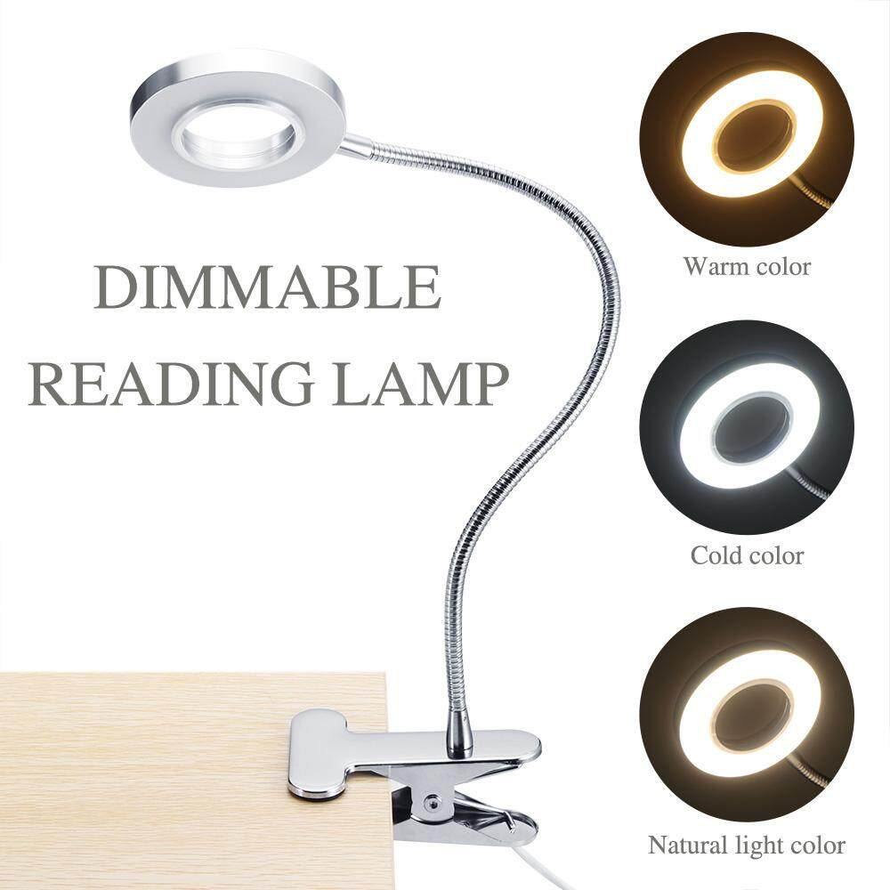 Portable Clip Table Lamp LED Table Lamp Tattoo Light  Eyebrow Manicure Light USB Beauty Tools for Nail Makeup Bed Use