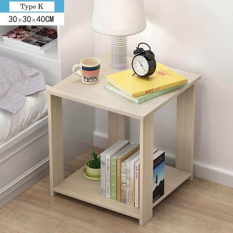 small wood tea table brief bedside table mini coffee table for balcony living room bedroom