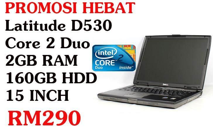 PROMOSI HEBAT Dell Latitude D530 Core 2 Duo 2GB RAM 80GB HDD/160GB HDD Malaysia
