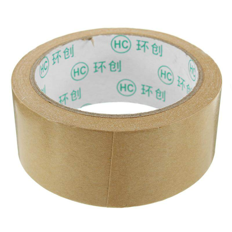 【Free Shipping】Kraft Paper Tape Strong Self Adhesive Packaging Shipping Seal Ring Tape 2 Sizes --6cm*20m