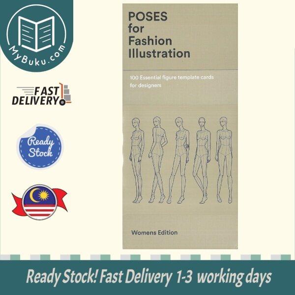 [MyBuku.com] Poses for Fashion Illustration (Card Box) : 100 essential figure template cards for designers - FASHIONARY - 9789887711056 - Fashionary International Limited Malaysia