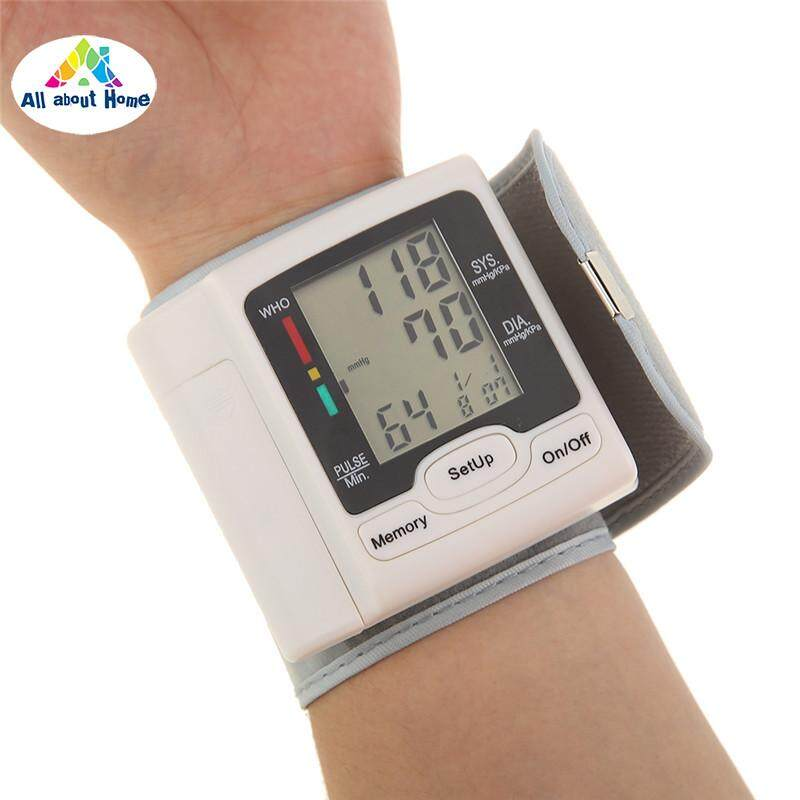 ABH Germany Chip Automatic Wrist Digital Blood Pressure Monitor Tonometer for Measurement Heart Rate