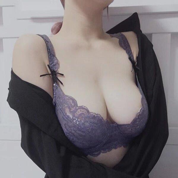 Nơi bán Áo Ngực Ren Màu Tím Đồ Lót Gợi Cảm Bộ Quần Lót Áo Ngực Nâng Ngực Vòng Thép Siêu Mỏng, Bộ Đồ Lót Thêu Cốc 40 42 A B C D