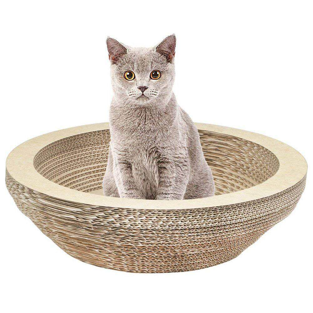 Cat Scratching Lounge Board Corrugated Cardboard Scratcher Cat Scratch Pad Post Sharpen Claws Pet Toy Large By Lovefreebuy.