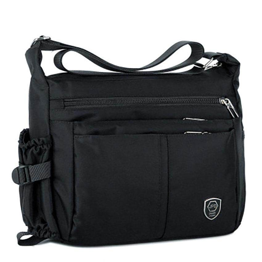 Unique2017 Mens Simple Casual High Quality Waterproof Nylon Multi-Layer Business Casual Messenger Bag Handbag Tote Bags Lightweight Large Capacity Outdoor Travel Shoulder Bag