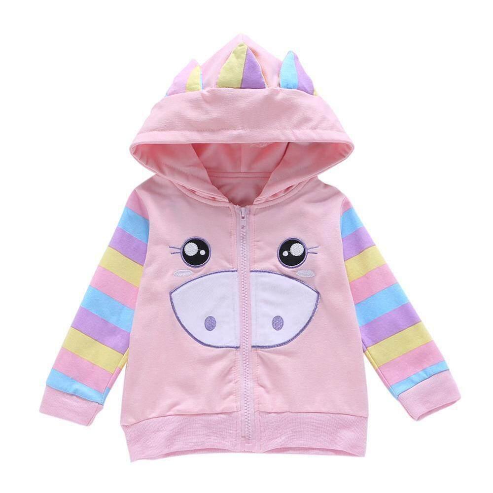 Layopo Layopo Cute Girls Spring And Autumn Cartoon Pig Zipper Cardigan Jacket Hoodie Sweater By Layopo.