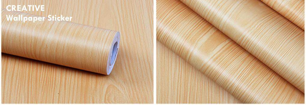 Wallpaper Sticker Pvc-(1 roll =Rm 30, 4 roll=Rm 100) Wood Design 45cm*10meter