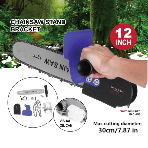 New Model Chainsaw Stand Bracket 12 Inch Electric Chain Saw Adapter 12 Accessories Set For Angle Grinder