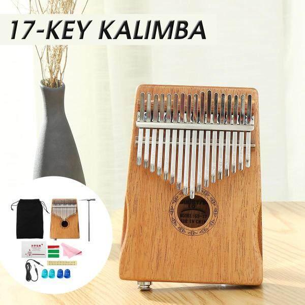 Muspor 17 Key EQ Kalimba Thumb Piano Acacia Electric Pickup Keyboard Instrument - Malaysia