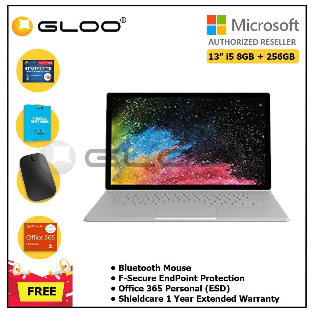 Microsoft Surface Book2 13  Core i5/8GB RAM - 256GB + Shieldcare 1 Year Extended Warranty + Office 365 Personal ESD + Bluetooth Mouse Malaysia