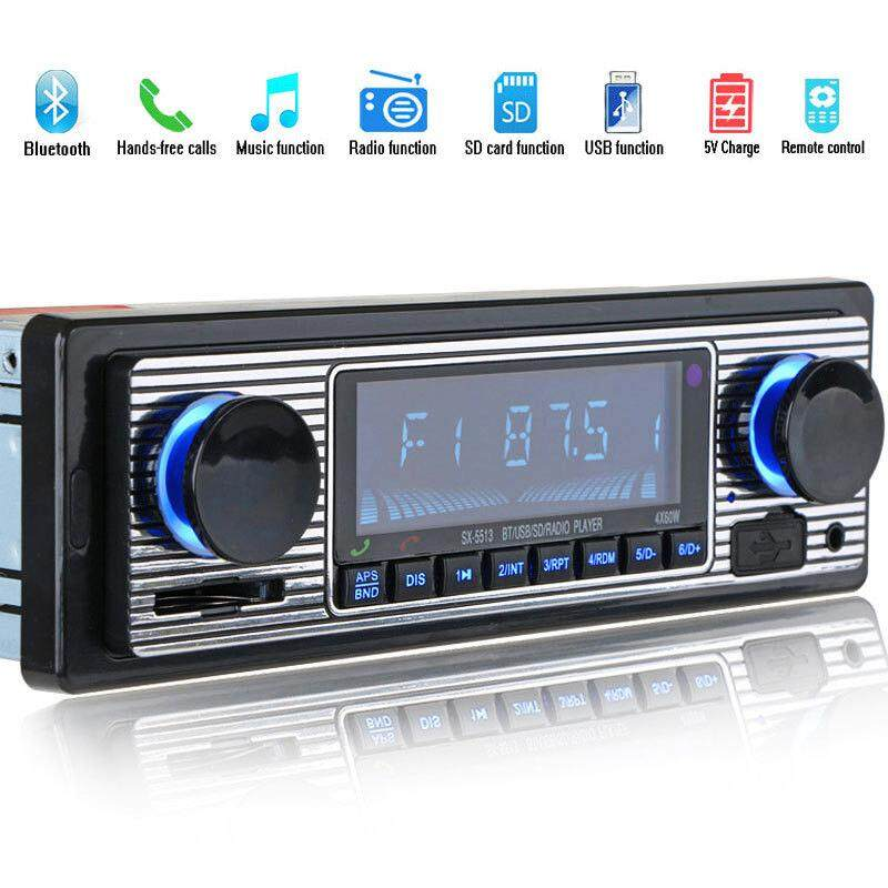 Bluetooth Car Radio Mp3 Player Stereo Usb Aux Classic Car Stereo Audio 12 Pin Pc By Rainning.