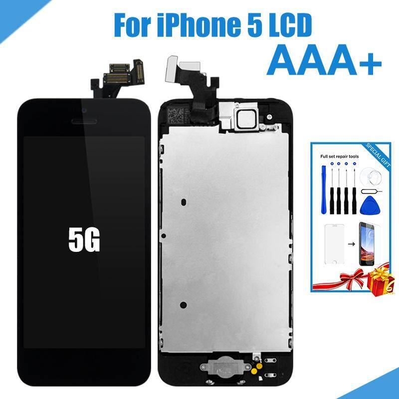 Paket Lengkap LCD untuk iPhone 5 Screen Perakitan Lengkap Display Pergantian Digital dengan Kamera Depan Tombol Home