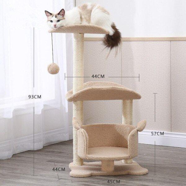 Đồ Nội Thất Nhà Cho Mèo, Đồ Chơi Trụ Cào Vui Nhộn Sisal Leo Cây Căn Hộ Cho Mèo Gỗ, Với Cột Salu Võng Mèo Scratcher RMYYX