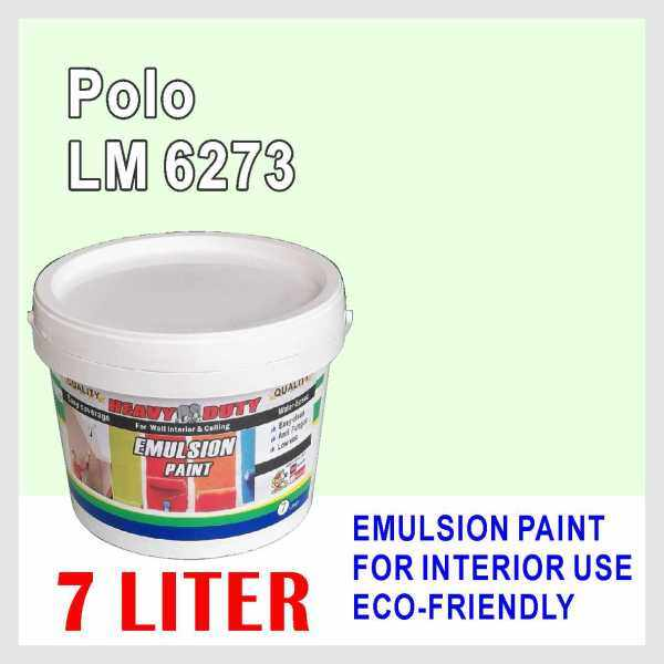 POLO LM6273 ( 7L ) Heavy Duty EMULSION PAINT Cat Interior / Ceiling Paint / WALL FINISH / oem LSC mielite